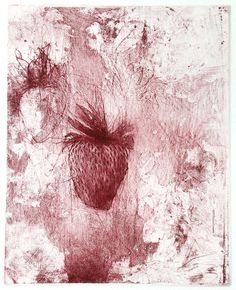 Jake Muirhead 'Strawberry', soft-ground etching, aquatint and drypoint