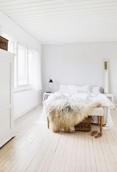 Bedroom inspiration. Muted elegance + lots of white