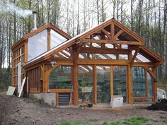 timber frame greenhouse - Google Search