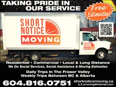 Short Notice Movers Vancouver: Why Choose Us? We're different from other moving c...