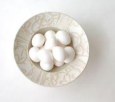 Frilly White Ice Cream Bowl by Liz Kinder-$37.50