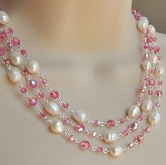Check out this item in my Etsy shop https://www.etsy.com/listing/230412134/pearl-and-swarovski-necklaceswarovski