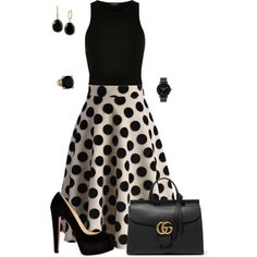 Untitled #658 by angela-vitello on Polyvore featuring River Island, Chicwish, Christian Louboutin, Gucci, Effy Jewelry, The Horse and Judith Ripka