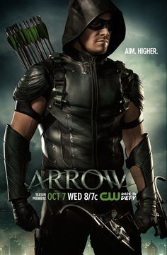 "Arrow Here's a new poster, featuring a new ""happy"" Oliver, who Marc Guggenheim says handles his return differently from the past"