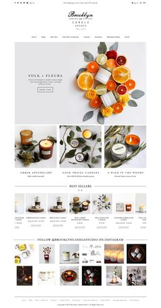 eCommerce website: Brooklyn Candle Studio - Wix Website Ideas - DIY your own website with Wix. Website Design Inspiration, Best Website Design, Ecommerce Website Design, Website Design Layout, Web Layout, Layout Design, Design Ideas, Homepage Design, Best Web Design