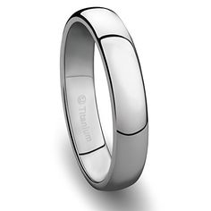 4MM Titanium Ring Classic Wedding Band with Polished Finish *** Find out more about the great product at the image link.