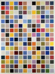 Gerhard Richter has painted color charts in many sizes and varieties for decades. They are meditative and dynamic at the same time...