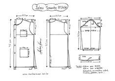 Jaleco-P. Baby Dress Patterns, Coat Patterns, Clothing Patterns, Sewing Patterns, Mens Shirt Pattern, Jacket Pattern, Top Pattern, Sewing Pants, Sewing Clothes