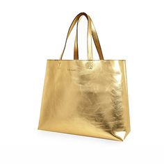 Gold reversible beach bag and purse £28.00