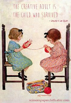 Orenco Originals 2 Girls Winding Yarn by Jessie Willcox Smith Counted Cross Stitch Pattern Images Vintage, Vintage Pictures, Vintage Cards, Tricot D'art, Art Du Fil, Knit Art, Vintage Children, Knitting Projects, Jessie