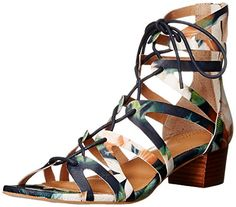 Corso Como Womens Jamaica Gladiator Sandal Navy Floral Leather 9 M US *** Check this awesome product by going to the link at the image.