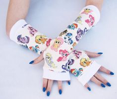 My Little pony arm warmers Fingerless Gloves for Women on Etsy, £18.77