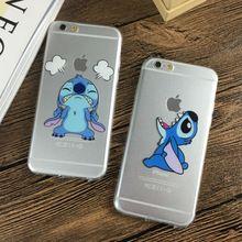 Tpu suave ultrafino transparente caja del teléfono de la puntada de la historieta linda para el iphone 7 7 plus 6 6 s 4.7 6 plus 5S se funda(China (Mainland))