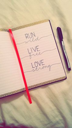 run wild • live free • love strong 2nd option down spine?