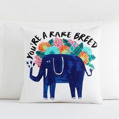 Jungle Fever Elephant Pillow Cover #pbteen