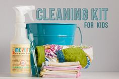 Great ideas on how to make your little ones a cleaning kit and get them involved with the chores early on.  If you start them young and convince them cleaning is fun, it will pay huge dividends in the future!