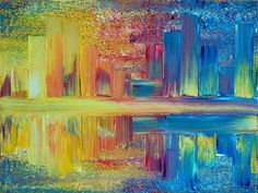 CITY LIGHTS art by TERESA WEGRZYN