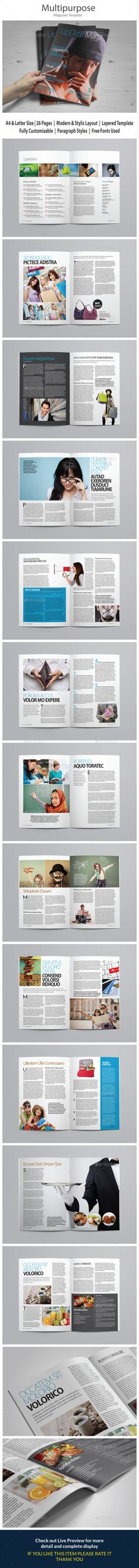 Design Magazine 7 Template by luuqas LIVE PREVIEW Features 40 - it manual templates to download