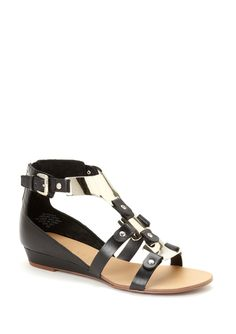 Boutique 9 Cool Sandals with Leather and Metal Plates $59.00 (retail 110.00)