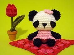 Panda crochet.  I must learn to crochet.