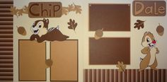 Chip n Dale 12x12 premade scrapbook layout/kit by ScrapnGoMemories, $8.00