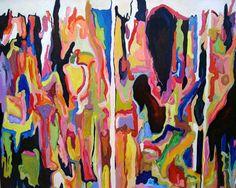 "Jennifer Gabbay; Oil, 2010, Painting ""Liquefy"""