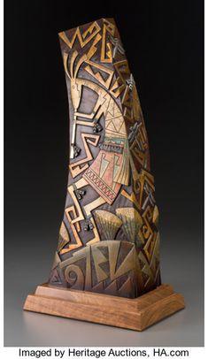Native American Pottery, Native American Art, Pottery Sculpture, Wood Sculpture, Worli Painting, Organic Art, Copper Art, Scrap Metal Art, Mural Wall Art