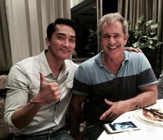Song Seung Heon with  Mel Gibson