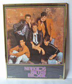 Vintage New Kids On The Block Poster by PoorLittleRobin on Etsy, $10.00