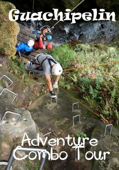 Guachipelin in Rincon de la Vieja National Park in Costa Rica - ziplining, horseback riding, mud baths, hot spring, waterfall and a super fun river tubing