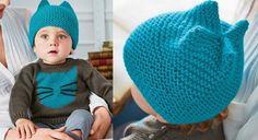Facile à tricoter, même pour les débutantes, ce bonnet est réalisé au point mousse. Découvrez également les explications du petit pull coordonné.  Tailles : 3-6 mois ( 12-24 mois) Le ...