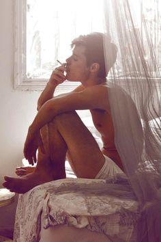 Adan Molinos / Male Models, Smoking Photography