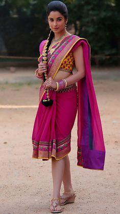 Madhurima Banerjee in a Stylish Short Saree