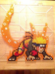 Naruto fox anime japan perler bead hama bead pattern (4 pegboards) -Kitsunekay