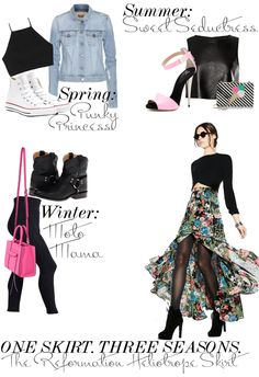 How to wear spring fashion now / One skirt three ways / The Editorialite / Spring fashion 2014