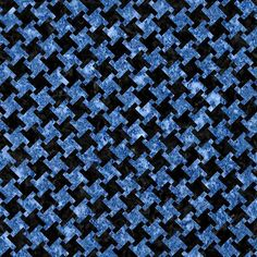 A houndstooth checked pattern using black marble and blue marble.