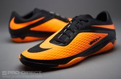 Nike Hypervenom Phelon Indoor Boots - Black/Citrus