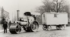 Young and Doggett Steam Tractor, Steam Engine, Heavy Equipment, Techno, Tractors, Antique Cars, Rollers, Vehicles, Trucks