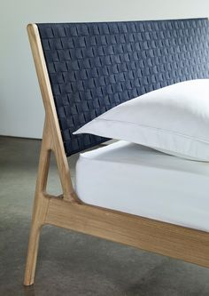 Fawn bedframe with woven headboard