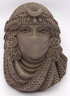 Máscara de MANÁN mediana en negro de cerámica artesanal Los Siete Soles http://www.amazon.es/dp/B015HJXXV6/ref=cm_sw_r_pi_dp_hBe.vb1YHMCH3
