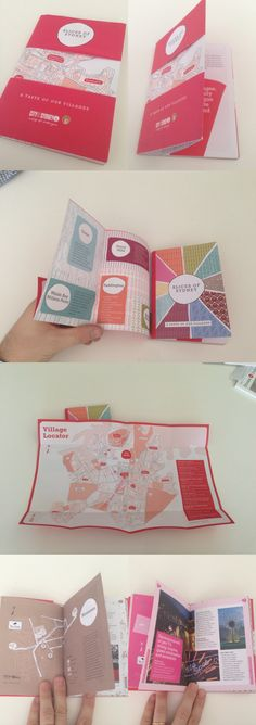 Booklet with a special dust cover that folds out to a map — City of Sydney, City of Villages