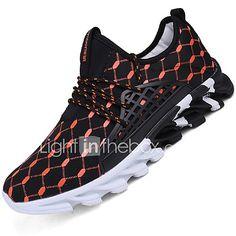 0f0bcccaae601 Hombre Suelos ligeros Tul Primavera   Verano Confort Zapatillas de deporte  Running Blanco   Negro   Naranja
