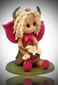 Taurus Baby Fairy by fairiesbynuria on Etsy, $12.00