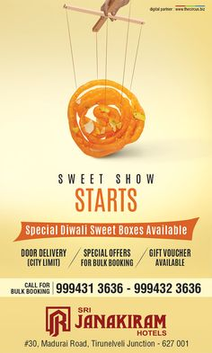 The Sweet Show Starts! Make this Festival of Lights more #sweeter with Srijanakiram Hotels Special Diwali Sweet Boxes. ✔ Special Offer for bulk booking. ✔ Door Delivery ( City Limit ) ✔ Gift Voucher Available Call for bulk booking - +91 999413636, +91 999423636  #srijanakiram #diwali #special #sweet #boxes #tirunelveli #halwa #nellai #Festival