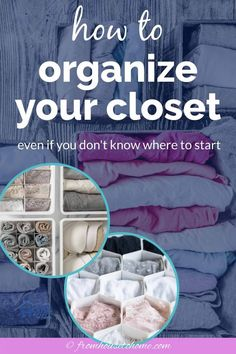 These bedroom closet organization ideas and storage tips are great for getting your closet clutter under control! Learn how to organize your closet so you can actually find what you're looking for.