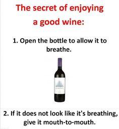 Save the wine!