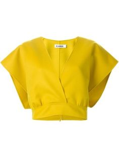 Jil Sander cropped wrap top