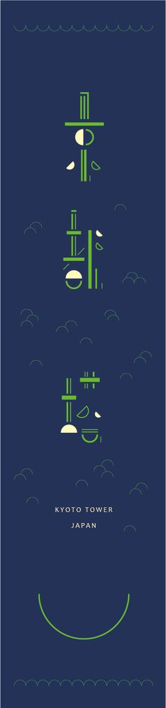 kyoto tower / type / visual poster