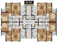 Fi Side Premium Bahcesehir Istanbul Building Layout, Building Plans, Building Design, Healthcare Architecture, Plans Architecture, Modern House Plans, Small House Plans, The Plan, How To Plan
