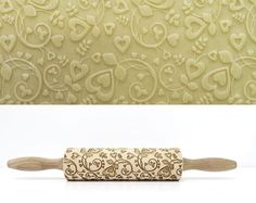 FROSTY PATTERN Embossing rolling pin laser engraved by Texturra
